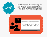 Produkt-Businessplan Coaching Ticket