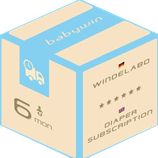 Diaper Subscription Service from babywin.de     6 months     for one kid
