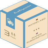 Diaper Subscription Service from babywin.de  |  3 months  |  for 2 kids or twins.