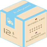 Diaper Subscription Service from babywin.de  |  12 months  |  for one kid