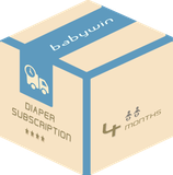 Diaper Subscription Service from babywin.de  |  4 months  |  for 2 kids or twins