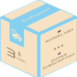 Diaper Subscription Service from babywin.de  |  3 months  |  for one kid