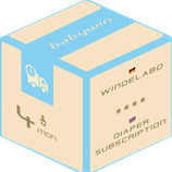 Diaper Subscription Service from babywin.de  |  4 months  |  for one kid