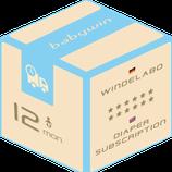 Windelabo Service von babywin.de  |  12 Monate  |  für ein Kind