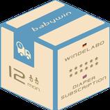 Windelabo Service von babywin.de |  12 Monate  |  für zwei Kids oder Zwillinge