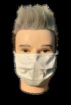 Stoffmaske schützt komplett Nase, Mund und Kinn