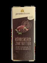 Pramoleum Zartbitter-Schokolade mit gerösteten Kürbiskernen