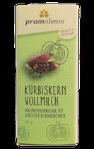 Pramoleum Vollmilch-Schokolade mit gerösteten Kürbiskernen