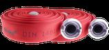 Feuerwehrschlauch Rot nach DIN 14811 mit DIN-Storz-Druck-Kupplungen