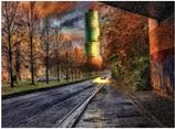 Excenterhaus an einem Herbstmorgen