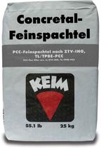 KEIM Concretal®-Feinspachtel - Wasserfester, frostsicherer und tausalzbeständiger Feinspachtel zum Angleichen von Reparatur- stellen (Mörtel) oder als Lunkerschlämme