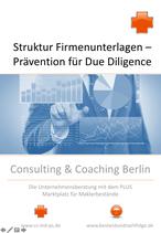 Neu: Checkliste Struktur Firmenunterlagen - Prävention Due Diligence
