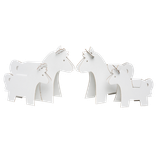 Famille poneys en carton