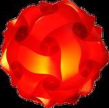 Calabi- Yau Lampe, rot Bausatz ohne Kabel