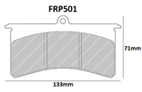 PLAQUETTES DE FREIN FERODO RACING OPEL ADAM RALLYE R2 AVANT / ETRIERS AP RACING CP4751 / ETRIERS OUTLAW 3000 3500 4000 / ETRIERS WILWOOD  LC-GT SL-GT SUPERLITE 4 ET 6 DS3000