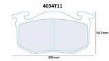 PLAQUETTES DE FREIN CARBONE LORRAINE CITROEN SAXO XSARA ZX ARRIERE / PEUGEOT 106 205 206 306 309 ARRIERE / RENAULT CLIO 1 ET 2 MEGANE 1 R5 GT TURBO ARRIERE / ALPINE A310 AVANT ET ARRIERE 4034T11 RC5+