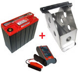 PACK BATTERIE SECHE ODYSSEY EXTREME 25 + BAC ALU + CHARGEUR