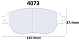 PLAQUETTES DE FREIN CARBONE LORRAINE FIAT 500 ABARTH AVANT / GRANDE PUNTO ABARTH AVANT / PEUGEOT 206 RC AVANT / 207 1.6L Turbo RC AVANT / 307 1.6L 2.0L 16V AVANT 4073 RC6