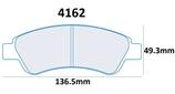 PLAQUETTES DE FREIN CARBONE LORRAINE CITROEN C2 1.6L 16V VTS AVANT / PEUGEOT 206 XSI 2L S16 AVANT 4162 RC6