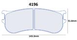 PLAQUETTES DE FREIN CARBONE LORRAINE RENAULT CLIO 4 R3T AVANT 4196 RC6