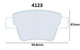 PLAQUETTES DE FREIN CARBONE LORRAINE PEUGEOT 207 R3 RC THP ARRIERE 4123 RC5+