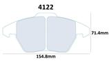 PLAQUETTES DE FREIN CARBONE LORRAINE AUDI TT A3 QUATTRO AVANT / CITROEN  C4 2L AVANT / PEUGEOT 207 RC THP 307 CC AVANT / SEAT LEON 1.8L TURBO 2L FSI AVANT / VW GOLF 5 ET 6 GTI 1.8L 2L AVANT 4122 RC6