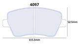 PLAQUETTES DE FREIN CARBONE LORRAINE RENAULT CLIO 3 1.6L 16V AVANT / SUZUKI SWIFT CUP RALLYE ASPHALTE OU SPORT AVANT 4097 RC6