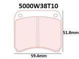 PLAQUETTES DE FREIN CARBONE LORRAINE MINI COOPER S AVANT / RENAULT CLIO 2 S1600 ARRIERE / TWINGO R2 EVO ARRIERE 5000W38T10 RC6