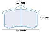 PLAQUETTES DE FREIN CARBONE LORRAINE RENAULT TWINGO 2 R2 TERRE ASPHALTE (SAUF EVO) CLIO 4 CUP ARRIERE 4180 RC6
