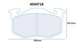 PLAQUETTES DE FREIN CARBONE LORRAINE CITROEN SAXO XSARA ZX ARRIERE / PEUGEOT 106 205 206 306 309 ARRIERE / RENAULT CLIO 1 ET 2 MEGANE 1 R5 GT TURBO ARRIERE / ALPINE A310 AVANT ET ARRIERE 4034T18 RC6