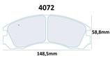 PLAQUETTES DE FREIN CARBONE LORRAINE MITSUBISHI GALANT TURBO PAJERO 3.5L 3000 GT LANCER EVO III IV ORIGINE ET V VI VII VIII TERRE AVANT 4072 RC6