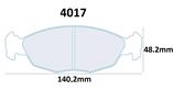PLAQUETTES DE FREIN CARBONE LORRAINE CITROEN SAXO 1.6L 16V VTS AVANT / PEUGEOT 106 1.6L XSI RALLYE GTI S16 AVANT 4017 RC5+