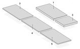 Marche d'escalier Grès de Vannes Double épaisseur Grey