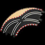 61655 Carrera-Spoorwissel bocht 1/90°