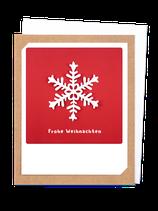 Frohe Weihnachten Schneeflocke rot