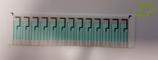 Strip/row of 13 electrodes