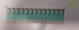 Microfluidic spacer layer and top cover  for 13 electrode strips