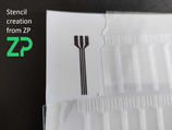 ZP Custom stencil array - one design repeated