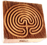 """Primary Labyrinth"" printing block"