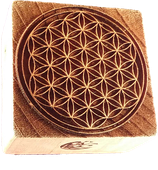 """ Flower of Life "" printing block"