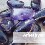 Amethist trommel Grystal grid 4 st