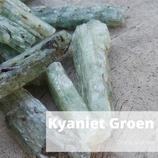 Kyaniet groen Crystal Grid 4st