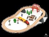 Brio, Holzeisenbahnset Landleben 36-teilig
