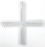 Profilo led croce 360 gradi cm 20x lato