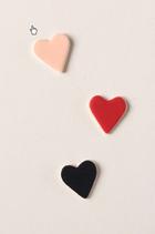 Broche en céramique coeur