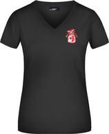 Schwarzes KAMIPO T-Shirt V-neck Damen