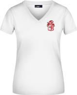 Weißes KAMIPO T-Shirt V-neck Damen