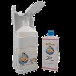 Desinfektionsmittelspender zur Wand- und Standmontage, inkl. 500 ml Desinfektionslösung DL-2