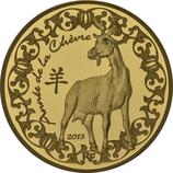50 Euro Jahr der Ziege 2015 Gold PP