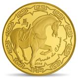 50 Euro Jahr des Pferdes 2014 Gold PP